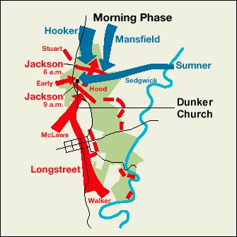 From The North Woods Union General Joseph Hooker S Dawn Artillery Pounds The Confederate Troops Of Thomas Stonewall Jackson Standing In The Miller