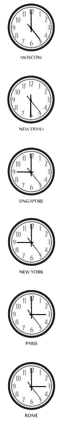 Time Zone Clocks Icon
